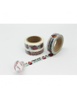 Washi tape cupcakes 15 mm. x 10 m.