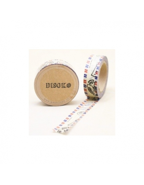 Washi tape correo postal 15 mm. x 10 m.