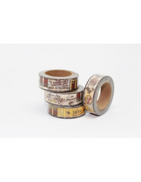 Washi tape vintage 15 mm. x 10 m.