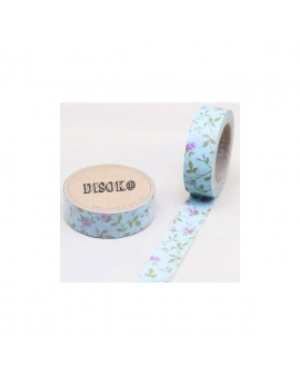 Washi tape azul flores