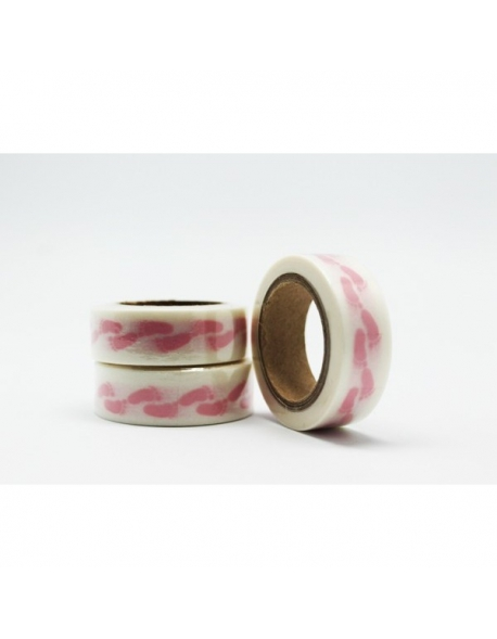 Washi tape pies rosa
