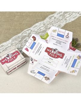 Invitación en cajita Weddingpoly
