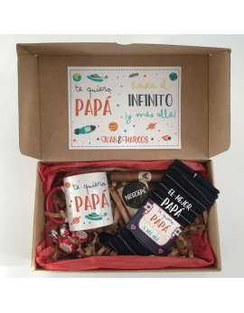Kit de regalo para chico con taza personalizable