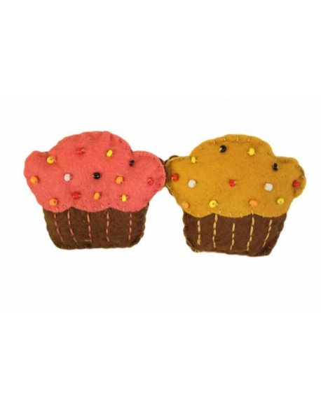 Broche fieltro cupcake