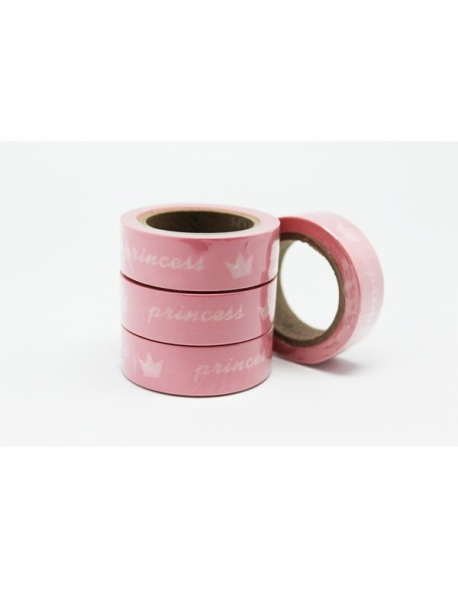 Washi tape rosa princesa