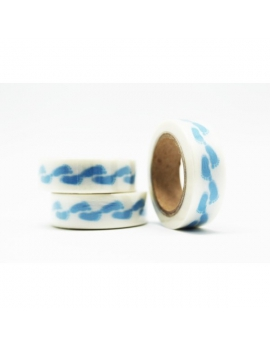 Washi tape pies azul