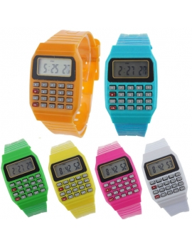 Reloj digital con calculadora