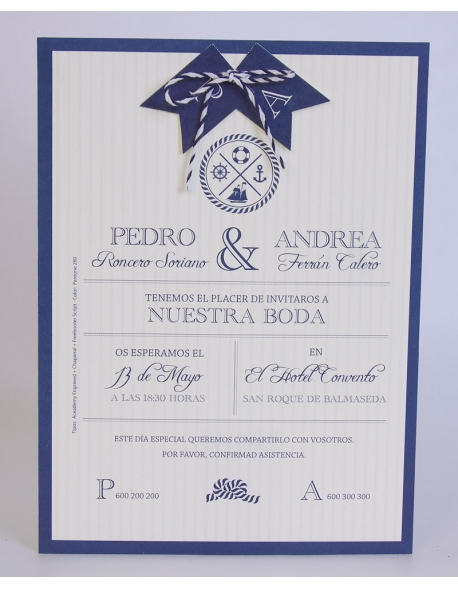 Invitación marinera