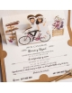 Invitación pop up con bicicleta