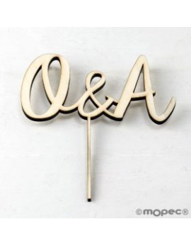 Cake topper iniciales