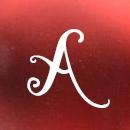 Rojo mate letras blancas