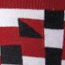 Estampado blanco, rojo y negro