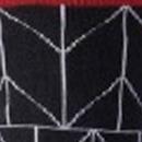 Rojo y negro con líneas blancas